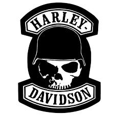 Sticker Harley Davidson Skull Helmet Sticker