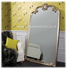extra large silver framed abby mirror