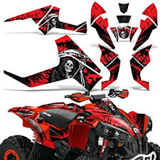 Amazon Com Wholesale Decals Atv Graphics Kit Sticker Decal Compatible With Can Am Renegade X R 500 800 1000 Reaper V2 Red Automotive