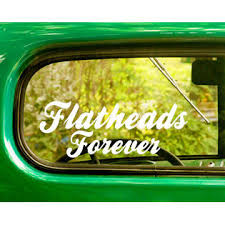 The Decal And Sticker Mafia 2 Flatheads Forever Decals Stickers For Car Window Truck Bumper 4x4 Jeep Rv