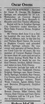 Oscar B. Owens - Newspapers.com