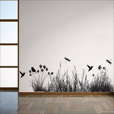 Grass With Animals Vinyl Wall Art Decal