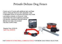 Petsafe Deluxe Dog Fence Covers Up To 25 Acres With Additional Wire And Flags Deluxe Ultralight Receiver With Adjustable Collar 4 Adjus Dog Fence Dogs Fence