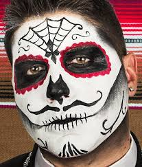 day of the dead skull makeup for mens