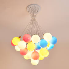 Children S Room Led Chandelier Modern Colorful Balloon Decoration Lighting Simple And Warm Room Bedroom Kindergarten Chandelier Chandeliers Aliexpress