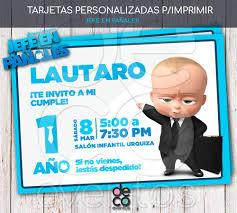 Tarjeta Invitacion Cumpleanos P Imprimir Jefe En Panales 380