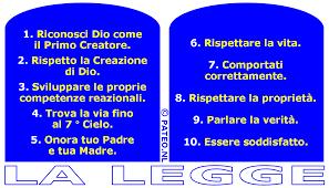 Le originali dieci Comandamenti