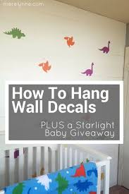 How To Hang Wall Decals Archives Meredith Rines