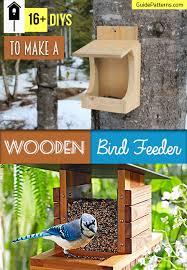 16 Diys To Make A Wooden Bird Feeder Guide Patterns