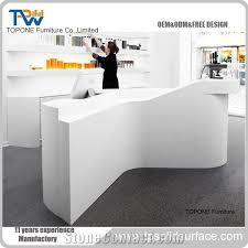 reception desk hair salon counter