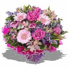 Un splendide bouquet en rose et mauve...