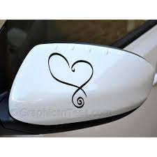 Heart Car Sticker Wing Mirror Vinyl Graphic Decal Girly Bumper Sticker Archives Midweek Com