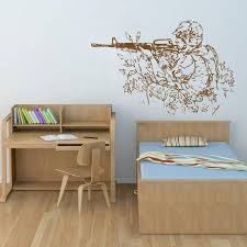 Ik713 Wall Decal Sticker Mural Us Army Military Shooter Bedroom Stickersforlife