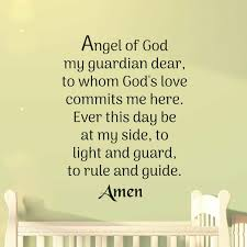 Latitude Run Angel Of God My Guardian Dear Prayer Wall Decal Wayfair