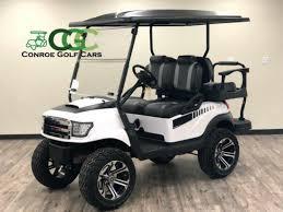 Conroe Golf Cars Custom Lifted Alpha Golf Cart