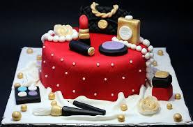 chanel red makeup cake birthday com