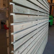 600mm High Pressure Treated Hit And Miss Panel Slatted Screen Fencing