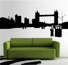 Doctor Who City Outline Whovian 23 Die Cut Vinyl Wall Decal Sticker Sticky Addiction