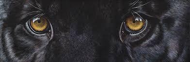 Black Panther Eyes Painting by Akiko Watanabe