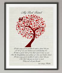 personalized gift for friend best friend quote poster print