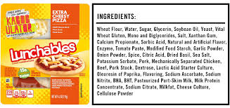 what s in this pizza lunchables