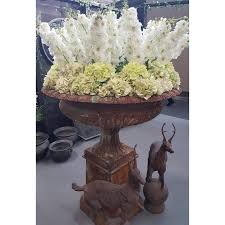 cast iron garden urn and plinth
