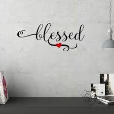 Blessed Wall Decal Wayfair
