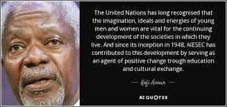 kofi annan quote the united nations has long recognised that the