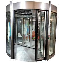 large aluminum glass revolving doors