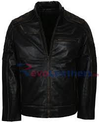 er black motorcycle leather jacket