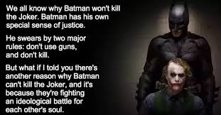 why doesn t batman just kill the joker or other villains in gotham