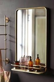 bathroom mirror with shelf design wall