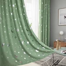 1 Panel Star Moon Blackout Curtains For Boy Girl Bedroom Living Room Curtain Kids Room Children S Curtain Finshed Drapes 6 Color Curtains Aliexpress