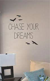 Amazon Com Js Artworks Chase Your Dreams Vinyl Wall Art Decal Sticker Home Kitchen