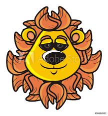 Lion Mane Cat Animal Toy Cartoon Funny Sticker Wall Decals Djessi85