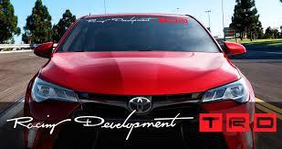 Product Toyota Racing Development Trd Motorsport Banner Strip Car Windshield Vinyl Sticker Decal
