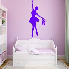 Dancer Decal Stickers Wall For Living Room Girls Silhouette Art Canada Ballet With Name Vamosrayos