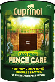 Cuprinol 5191660 Less Mess Fence Care Paint 5l Rustic Brown For Sale Online Ebay
