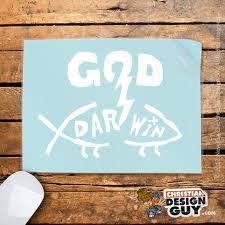 God Blasts Darwin Fish Funny Christian Car Vinyl Decal Etsy