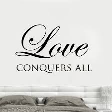 Scripture Wall Decal Quotes Love Conquers All Bedroom Wall Stickers Vinyl Removable Home Decor Bible Verse Family Decor Syy639 Wall Stickers Aliexpress