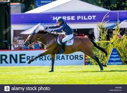 Hickstead, Sussex, UK. 26th July 2018. 4th Place. Abigail Walters riding  Perfick Miss Amber. GBR. The MS Amlin Eventers Challenge. Longines FEI  Jumping Nations Cup of Great Britain at the BHS Royal
