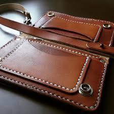 leather trucker wallet by 79ine on