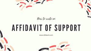 how to write an affidavit of support