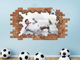 3d Football Wall Decal Soccer Ball Removable Vinyl Sticker Etsy