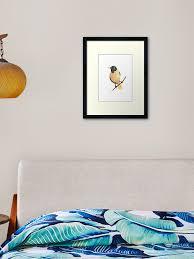 Baltimore Oriole Bird Illustration Nursery Kids Room Decor Framed Art Print By Asiaszmerdt Redbubble
