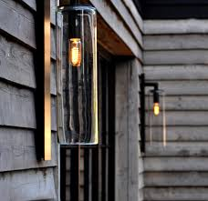 Contemporary Dome Glass Outdoor Wall Light