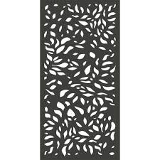 Modinex 6 Ft X 3 Ft Charcoal Gray Modinex Decorative Composite Fence Panel Featured In The Botanical Design Usamod4c Decorative Fence Panels Fence Panels Garden Fence Panels