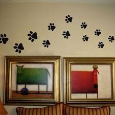 paw print wall decals on wanelo