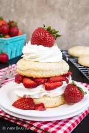 homemade strawberry shortcake inside