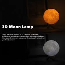 Stylish Magical 3d Print Moon Lamp 2thepocket